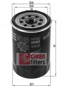 CLEAN FILTER  DF 864/A Ölfilter Höhe: 128mm