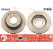 TRW Brake discs and rotors SSANGYONG Vented, Painted
