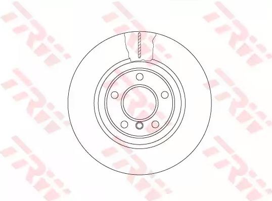 Bremsscheiben DF6616S TRW DF6616S in Original Qualität