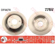 Спирачни дискове TRW 11015835 плътен, боядисан