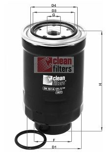 CLEAN FILTER  DN 287/A Fuel filter Height: 139mm