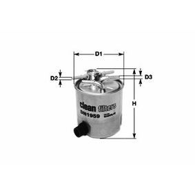 Fuel filter Height: 120mm with OEM Number 16400-JY09D