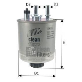 Kraftstofffilter DN2725 TWINGO 2 (CN0) 1.5 dCi 90 Bj 2017