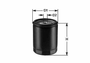 CLEAN FILTER  DO1819 Filtro de aceite Altura: 119mm
