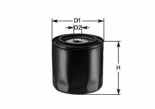 CLEAN FILTER  DO1835 Ölfilter Höhe: 72mm
