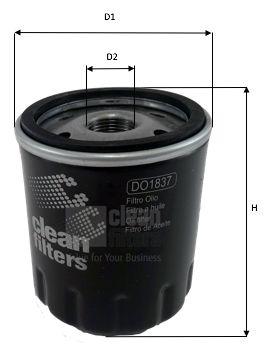 CLEAN FILTER  DO1837 Ölfilter Höhe: 89mm