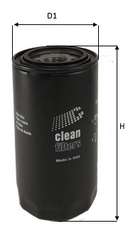 CLEAN FILTER  DO1843 Ölfilter Höhe: 180mm