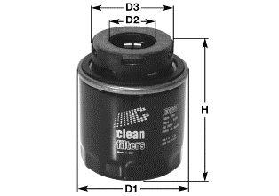 CLEAN FILTER  DO5509 Ölfilter Höhe: 95mm