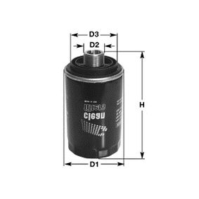 CLEAN FILTER  DO5510 Ölfilter Höhe: 123mm