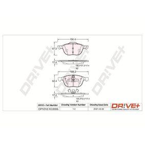 Bremsbelagsatz, Scheibenbremse Höhe 1: 62,5mm, Höhe 2: 67,2mm, Dicke/Stärke: 18mm mit OEM-Nummer BPYK-33-23ZC-9C