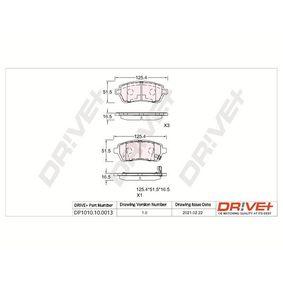 Bremsbelagsatz, Scheibenbremse Höhe: 51,70mm, Dicke/Stärke: 15,3mm mit OEM-Nummer 24285