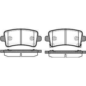 Brake Pad Set, disc brake Height: 47,40mm, Thickness: 17,3mm with OEM Number 16 05 319