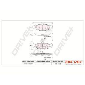 Комплект спирачно феродо, дискови спирачки DP1010.10.0551 Corsa B Хечбек (S93) 1.4i 16V (F08, F68, M68) Г.П. 1996
