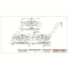 Bremsbelagsatz, Scheibenbremse Höhe 1: 77mm, Höhe 2: 58,8mm, Dicke/Stärke 1: 16mm, Dicke/Stärke 2: 17mm mit OEM-Nummer A163 420 0320