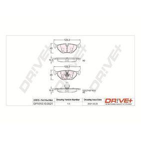 Bremsbelagsatz, Scheibenbremse Höhe: 44,90mm, Dicke/Stärke: 17mm mit OEM-Nummer 3421 1162 446