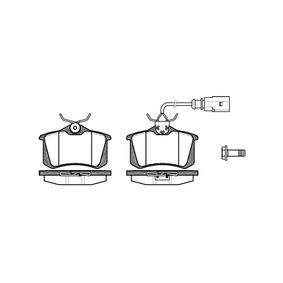 Bremsbelagsatz, Scheibenbremse Höhe: 52,90mm, Dicke/Stärke: 17mm mit OEM-Nummer 8D0698451B