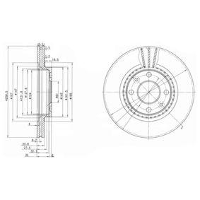 Bremsscheibe Bremsscheibendicke: 20,6mm, Ø: 259mm mit OEM-Nummer 7701205653