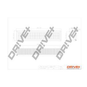Luftfilter Länge: 354,0mm, Breite: 82mm, Höhe: 57,0mm, Länge: 354,0mm mit OEM-Nummer 77010-59409
