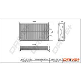 2014 T5 Transporter 2.0 TDI Air Filter DP1110.10.0113