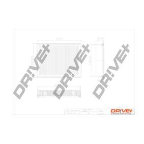 Luftfilter Länge: 218,0mm, Breite: 168mm, Höhe: 31,0mm, Länge: 218,0mm med OEM Nummer 2S619601CA