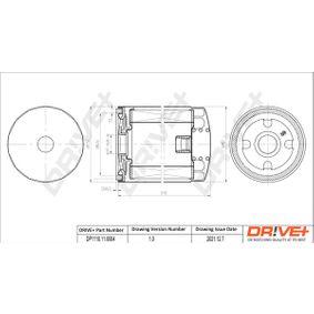 Ölfilter Ø: 79mm, Höhe: 123,0mm mit OEM-Nummer 056115561 B