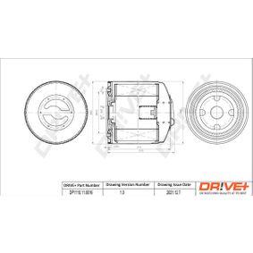 T4 Transporter 2.5TDI Ölfilter Dr!ve+ DP1110.11.0016 (2.5TDI Syncro Diesel 1998 AUF)