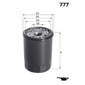 Oil Filter Ø: 69mm, Height: 77,0mm with OEM Number 9091510003