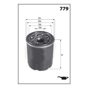Ölfilter Ø: 69,5mm, Höhe: 85,50mm mit OEM-Nummer 30A4000100