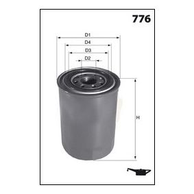 Ölfilter Ø: 84mm, Höhe: 67,0mm mit OEM-Nummer MD-352626
