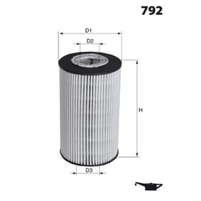 2012 Peugeot 3008 Mk1 1.6 THP Oil Filter DP1110.11.0076