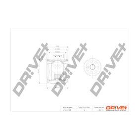 Ölfilter Ø: 78,3mm, Höhe: 91,0mm mit OEM-Nummer 1 S7G-6714-DA
