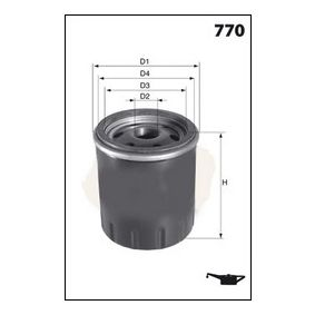 Oil Filter Ø: 78,3mm, Height: 91,0mm with OEM Number 1250-507