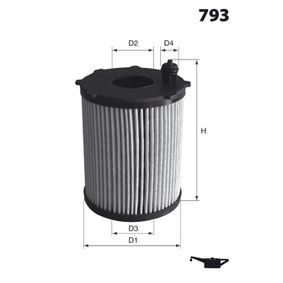 Oil Filter Ø: 65,5mm, Height: 118,0mm with OEM Number Y401-14-302A