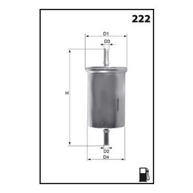 Fuel filter Height: 162,0mm with OEM Number 46 523 087