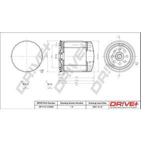 Kraftstofffilter Höhe: 102,0mm mit OEM-Nummer 601 090 03 52