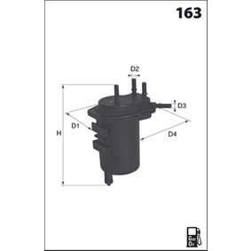 Fuel filter Height: 187,0mm with OEM Number 8200 026 237
