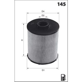 Fuel filter Height: 136,0mm with OEM Number 3C0-127-434