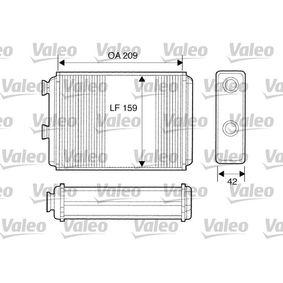 Heat Exchanger, interior heating 812280 PUNTO (188) 1.2 16V 80 MY 2002