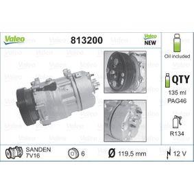 Klimakompressor Riemenscheiben-Ø: 119,5mm, Anzahl der Rillen: 6 mit OEM-Nummer 1076012