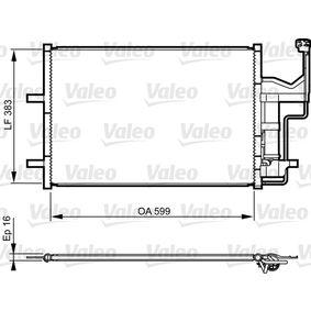 Condensador MAZDA 3 (BK) 1.4 de Año 10.2003 84 CV: Condensador, aire acondicionado (814216) para de VALEO