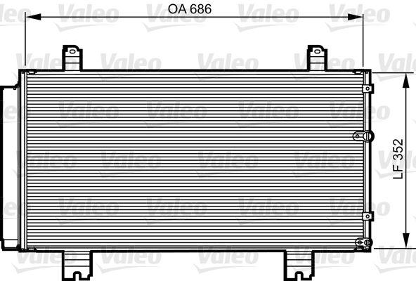 VALEO Kondensator, klimatanläggning 814226