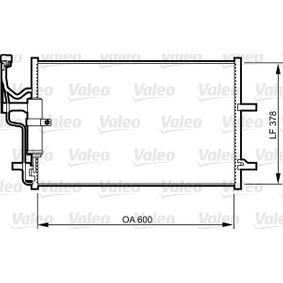 Condensador MAZDA 3 (BK) 1.4 de Año 10.2003 84 CV: Condensador, aire acondicionado (814265) para de VALEO