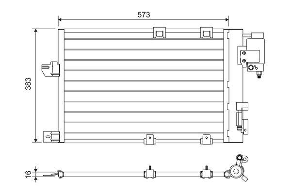 VALEO  817505 Kondensator, Klimaanlage Kältemittel: R 134a