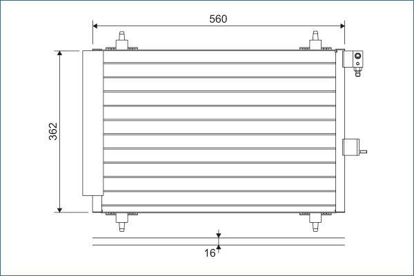 VALEO  817508 Kondensator, Klimaanlage Kältemittel: R 134a