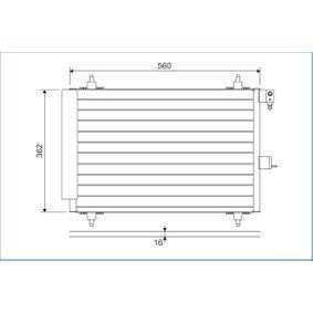 Kondensator, Klimaanlage Kältemittel: R 134a mit OEM-Nummer 6455-AT