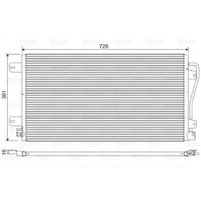 Kondensator, Klimaanlage Kältemittel: R 134a mit OEM-Nummer 7701 049 665