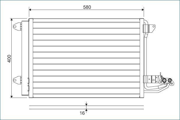 Kondensator Klimaanlage VALEO 817777 3276428177779