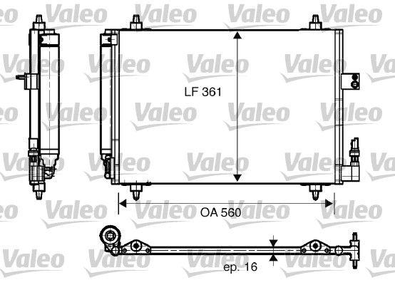 VALEO  817824 Kondensator, Klimaanlage Kältemittel: R 134a