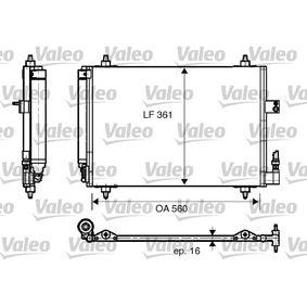Kondensator, Klimaanlage Kältemittel: R 134a mit OEM-Nummer 6455CP
