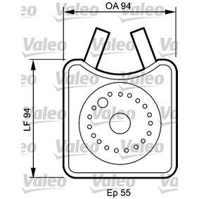 VALEO Ölkühler, Motoröl 817943 für AUDI 80 (8C, B4) 2.8 quattro ab Baujahr 09.1991, 174 PS